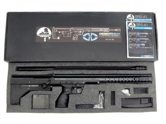 [SILVER BACK AIRSOFT] Desert Tech SRS-A1 スナイパーライフル 26インチ BK (中古)
