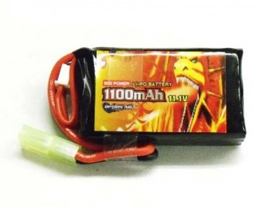 [OPTION NO.1] 11.1V 1100mAh BIG POWER LiPo GB-0027 (PEQインタイプ) (新品)